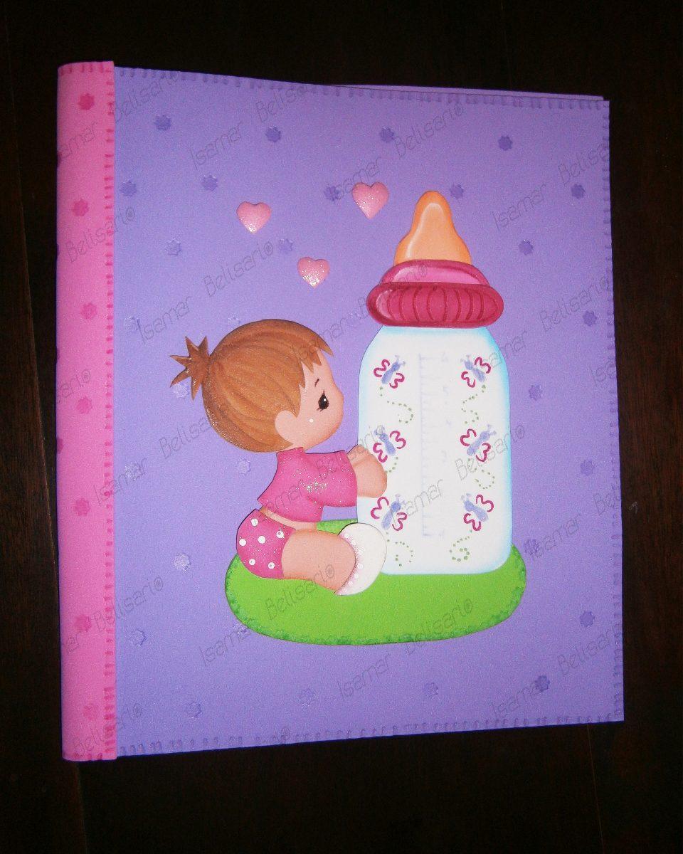 Carpeta decorada nacimiento bebe foami manualidades bs - Como decorar un dibujo ...