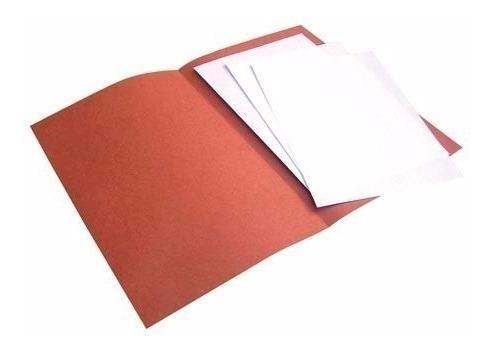 carpeta interior para colgante color ladrillo cja x 100 un.