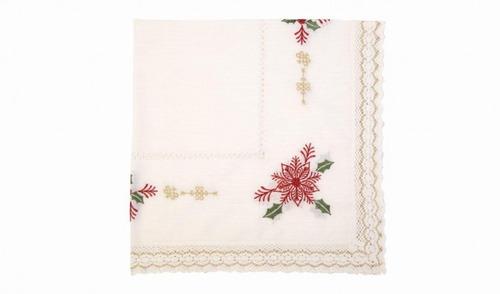 carpeta navidad 85x85 flor blanco / mallbits