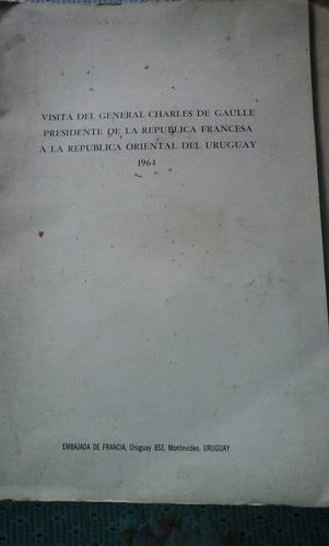 carpeta oficial visita de charles de gaulle a uruguay 1964