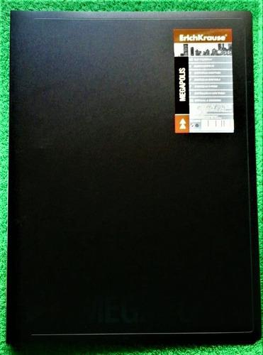 carpeta plástica con gancho de presion erickrause negra