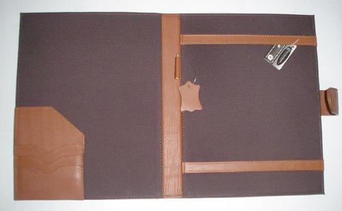 carpeta sencilla tamaño oficio en piel vacuno kuerissimo