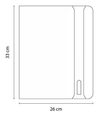 carpeta texturizada tipo folder curpiel con cierre y block