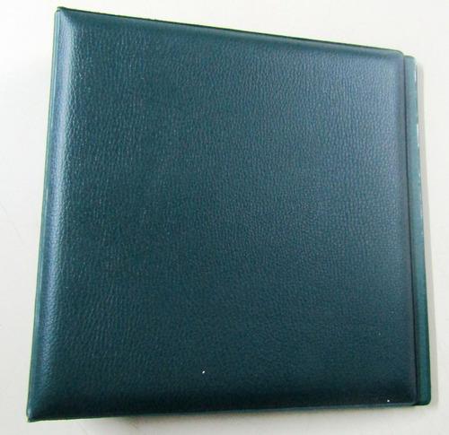 carpeta verde para coleccion de 180 monedas con cartones