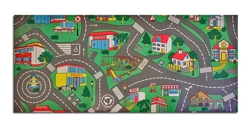 carpeta vinilica calles pista 120 x 200 cm espesor 2 mm infantil soul