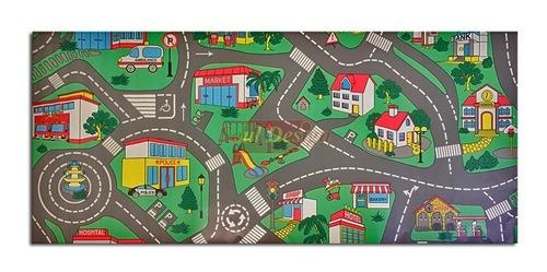 carpeta vinilica calles pista 90 x 200 cm espesor 2mm cuotas