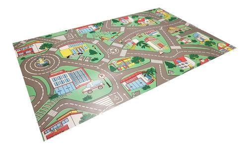 carpeta vinilica infantil calles y pista 100 x 100 cm soul