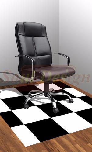 carpeta vinilica piso pvc damero 150 x 200 cm soul
