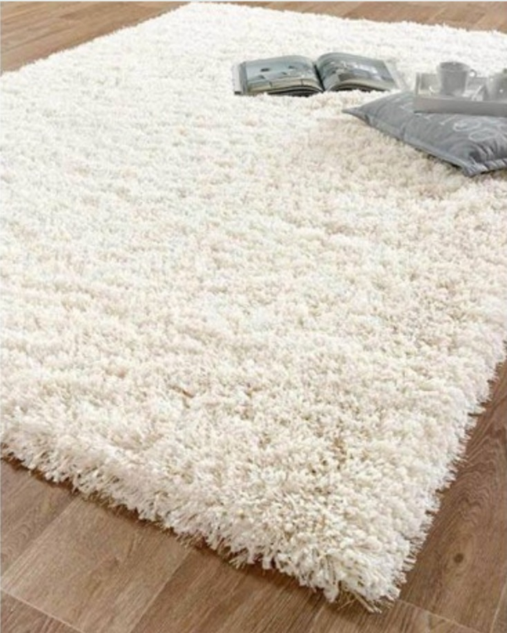 Carpetas Alfombras Pelo Largo Blanca 160x230cm Kreatex 15 594 00