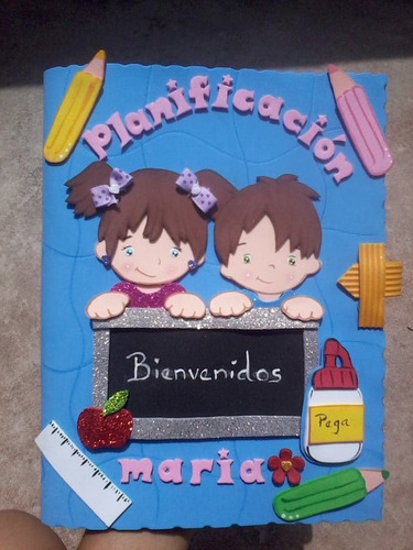 carpetas  cuadernos decoradas foami