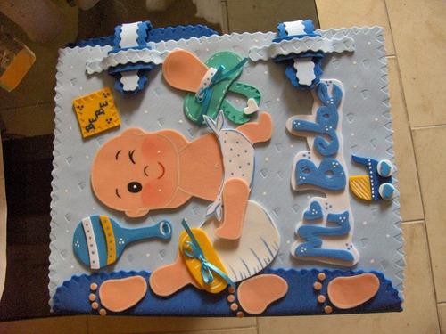 carpetas decoradas en foami ( bebe) control prenatal
