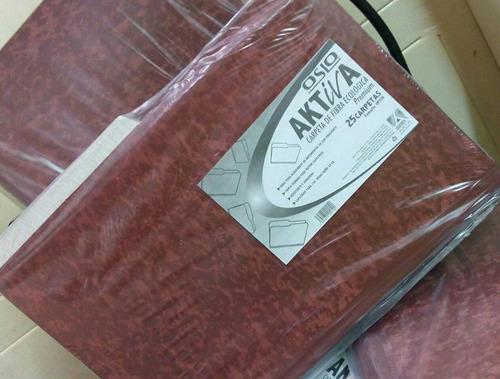 carpetas marrón oficio/carta activa sin/gancho x 25 und.