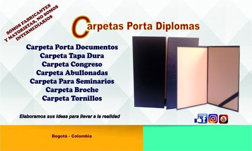 carpetas porta diplomas