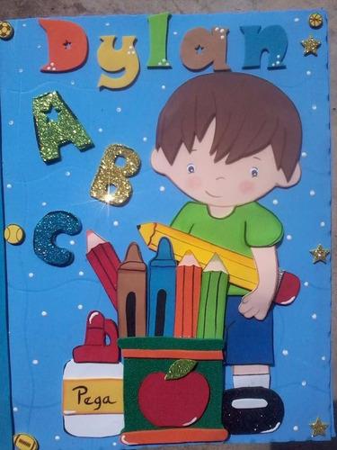carpetas preescolar escolares foami decoradas
