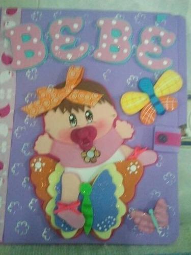 carpetas/cuadernos decorados en foami/bienvenidos/y màs