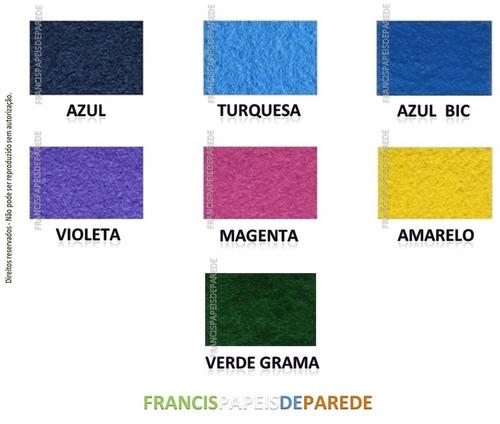 carpete azul bic cores forração chão casa escritório loja