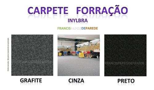carpete forração preto cinza grafite - 4m2 (2 x 2)
