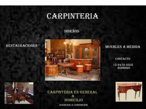 carpinteria en general a domicilio, consorcios