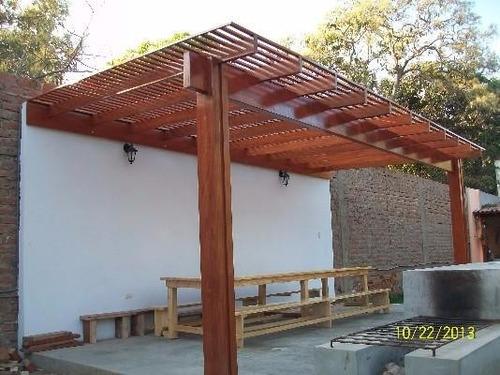 carpintería madera, puerta, pisos madera, techo sol y sombra