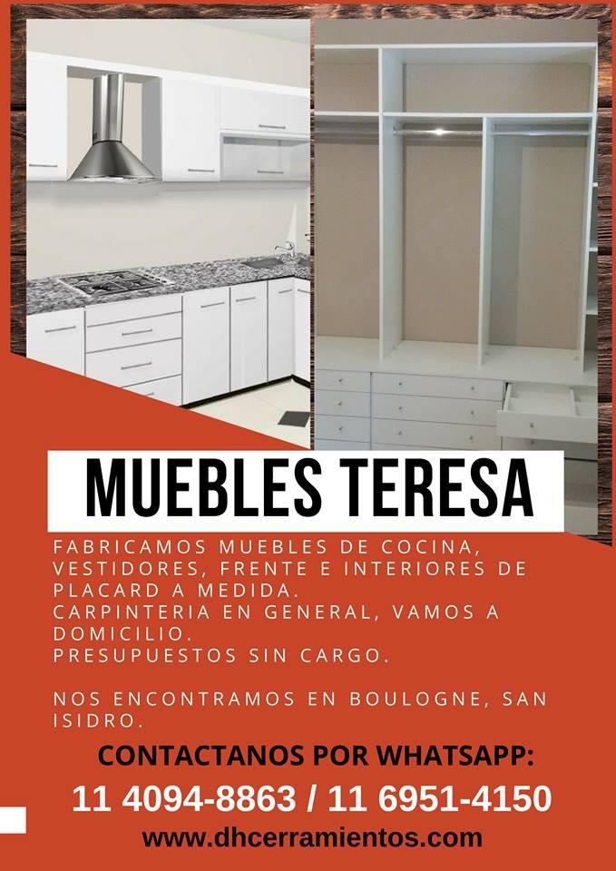 Carpintero,muebles,cocina,placard,presupuestos Sin Cargo