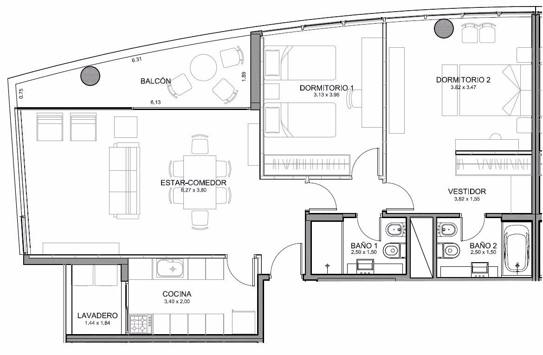 carrasco este. piso alto. 2 dormitorios. terraza. seguridad.