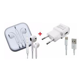 Carregador + Fone De Ouvido iPhone 5,5c, 5s, iPad Mini, Gps