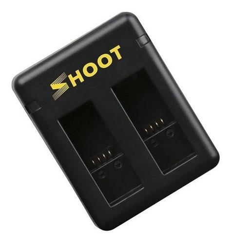 carregador + 2 baterias gopro hero 8 7 6 5 black hero (2018)