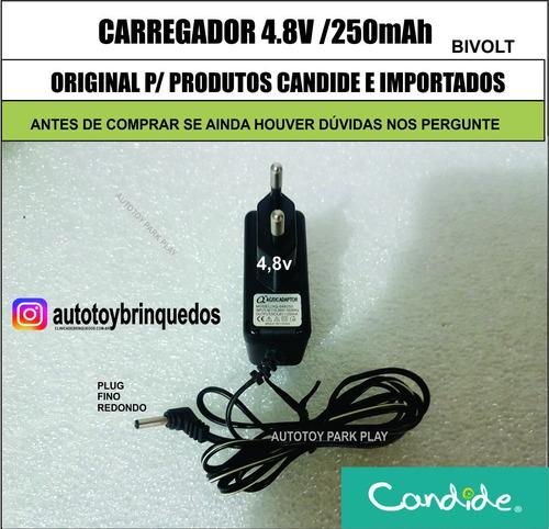 carregador 4.8v/250mah (plug redondo fino)