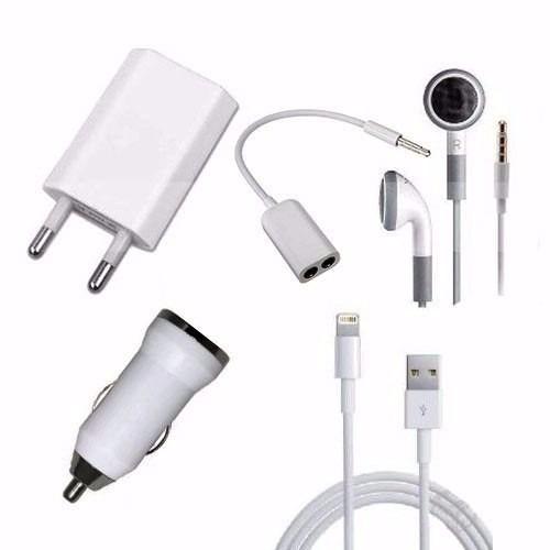 carregador apple iphone 6 e 5 kit 5 em 1