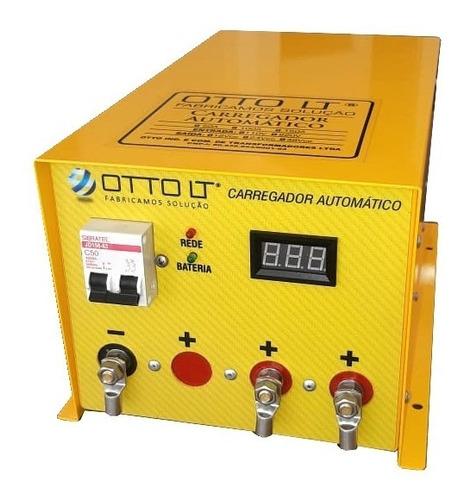 carregador automático 150a - 12v 24v 48v marinizado otto lt