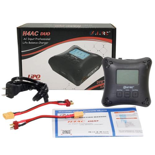 carregador balanceador htrc h4ac duo 20w bateria lipo 2 a 4s