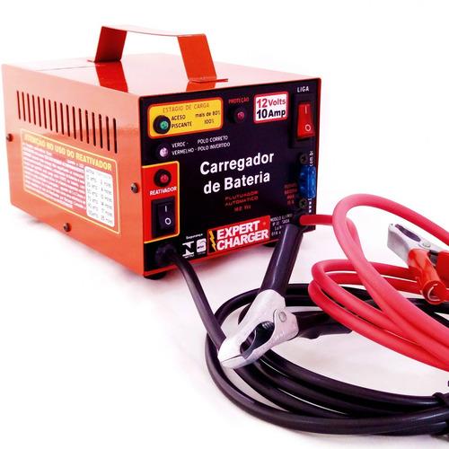 carregador bateria 12 v 10 amp automático c/ reativador