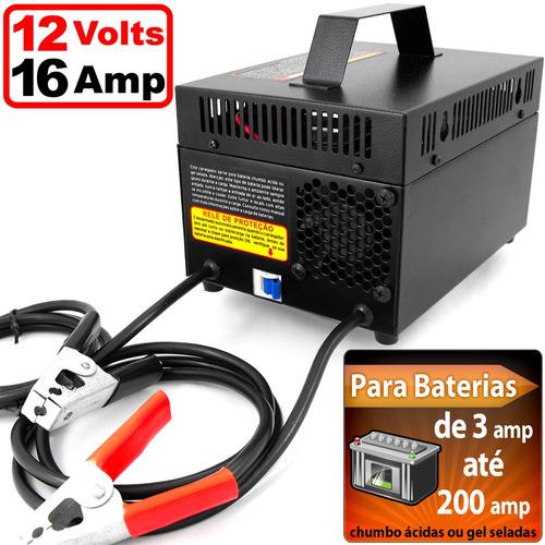carregador bateria 12 volts - caminhão/carro/moto/barco/auto