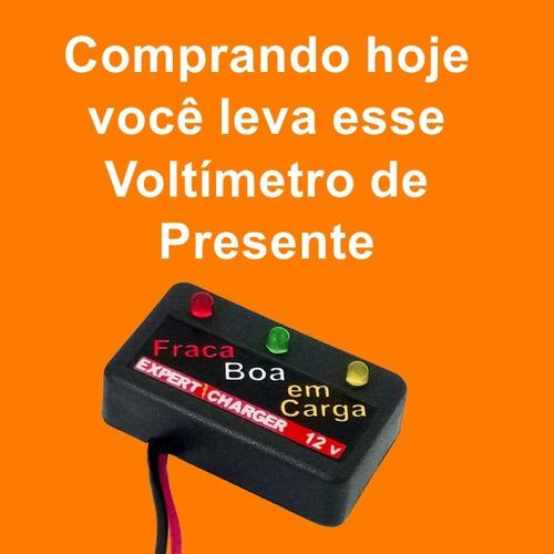 carregador bateria 12 volts - carro/moto/barco/caminhão auto