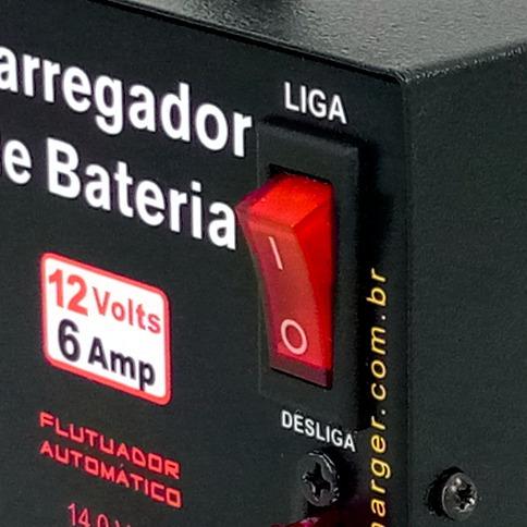carregador bateria 12v - moto carro - não precisa desligar!