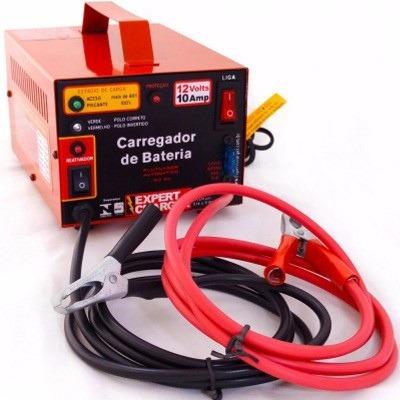 carregador bateria  automático c/ reativador 12v 10 amp
