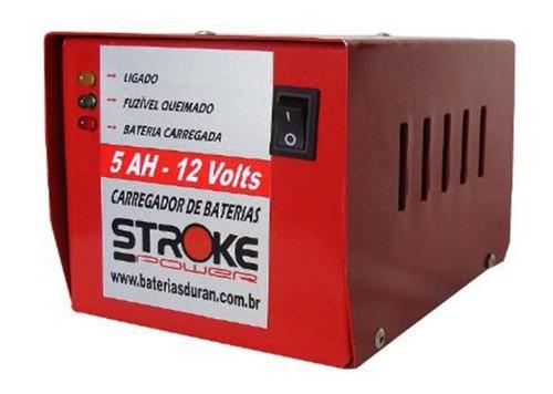 carregador bateria automotiva 5ah 12v carga lenta carro moto