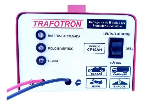 carregador bateria automotiva carro moto 12v 10ah cf10