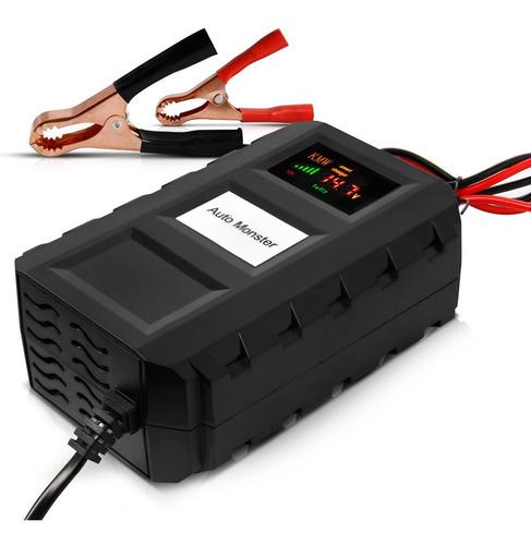 carregador bateria digital portátil automotivo e moto 7a 12v
