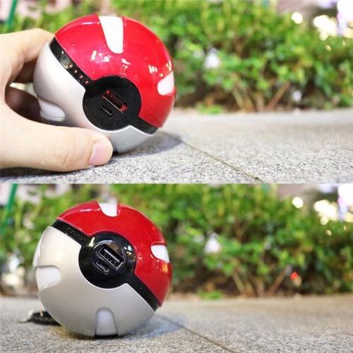 carregador bateria externa usb led pokemon pokebola - em sp