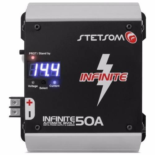 carregador bateria fonte autom. digital stetsom infinite 50a