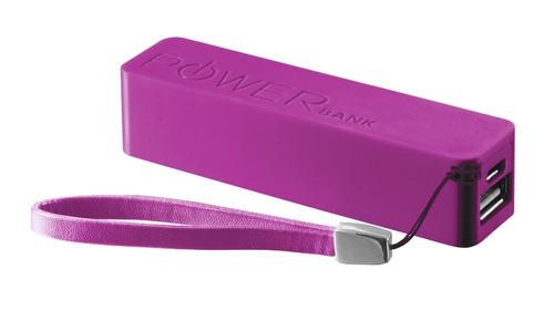 carregador bateria portatil power bank trust 2200 mah- rosa
