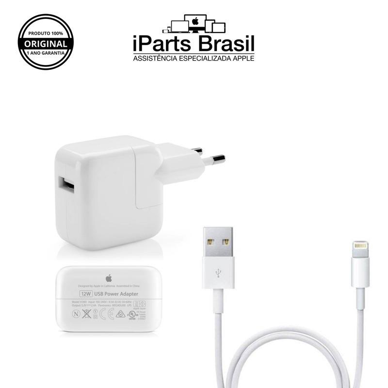 f26f8b7e013 Carregador + Cabo 1 Metro Ipad Iphone 12w Original Apple ® - R$ 129 ...