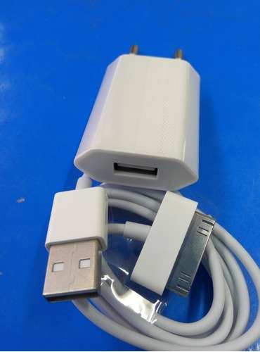 carregador + cabo iphone 4/4s/3g/3gs/ipod touch/nano/classic