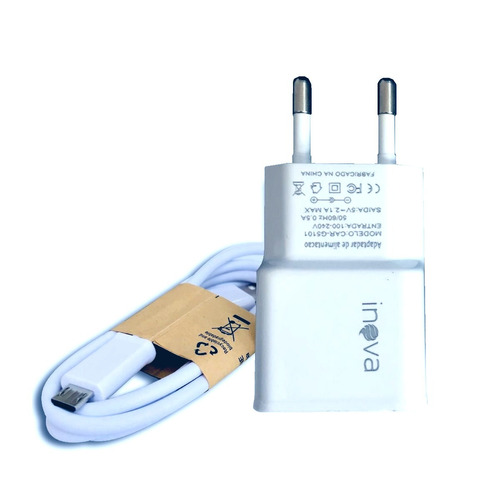 carregador carga rápida v8 original g5101 2.1a / 5 unidades