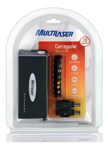 carregador cb007 multilaser fonte universal p/ laptop 90w