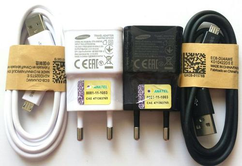 carregador celular samsung 2a original travel anatel 10 peça