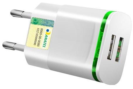 carregador celular samsung 2a original travel anatel origin