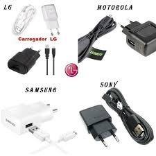 carregador celular samsung motorola lg sony 40 peças atacado
