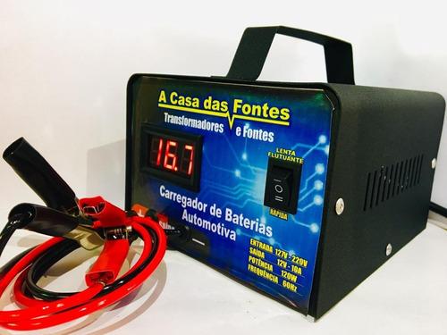 carregador d bateria carro moto 12v 20ah automotivo portatil